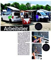 CamperVANS Zeitschrift Artikel ABANICO Markise Schwenkhalter Höherlegungskit